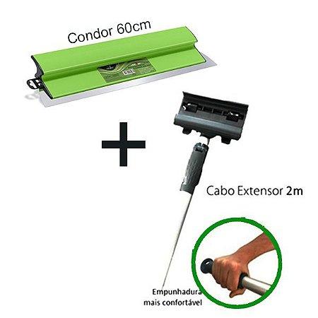 Kit Condor Desempenadeira 60cm  + Cabo Prolongador Mirox 2m