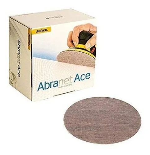 """Caixa De Lixa Abranet Ace 6"""" 150mm P180 C/ 50un - Mirka"""