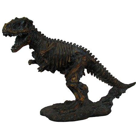 Estátua Esqueleto De Tiranossauro Rex Resina Oldway