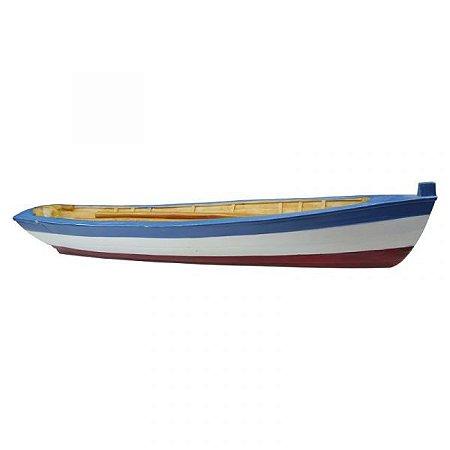 Canoa Azul Com Remos