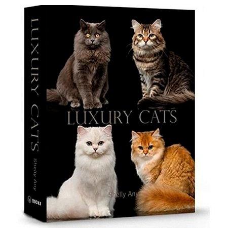 Livro Caixa Decorativo Book Box Gatos Luxury