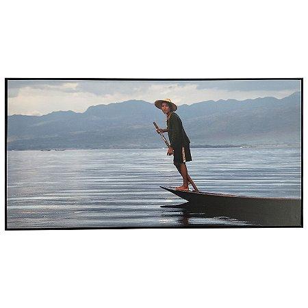 Tela Quadro Canvas Pescador Horizontal 2x1 M