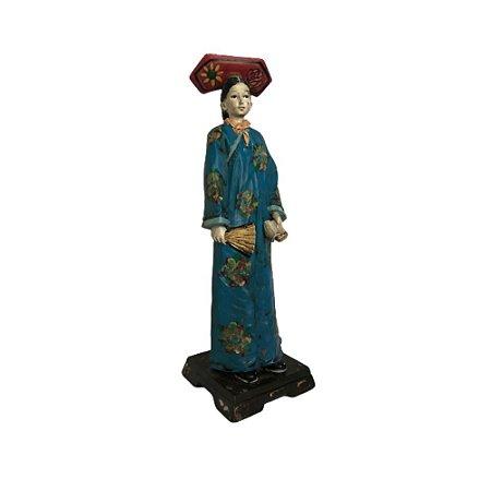 Escultura Mulher Chinesa Decorativa