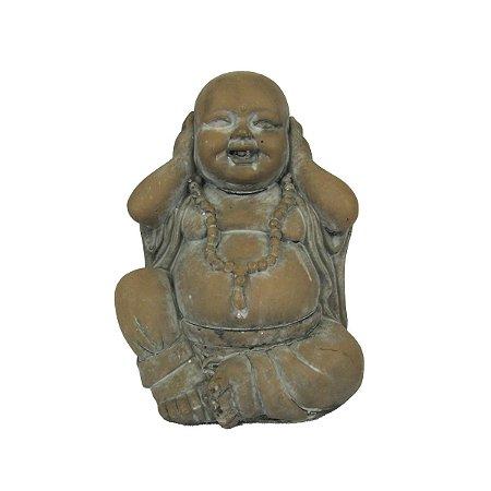 Escultura Decorativa Buda Em Resina