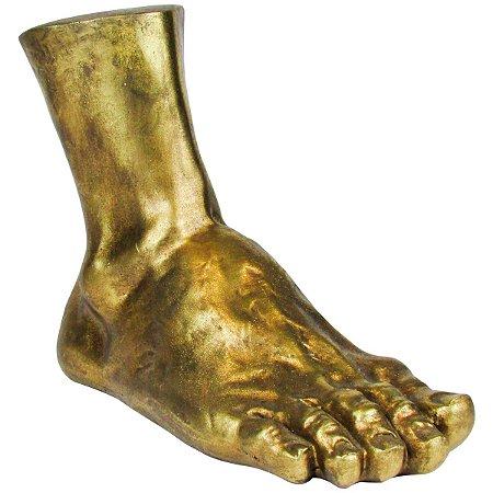 Escultura Decorativa Pé Dourado