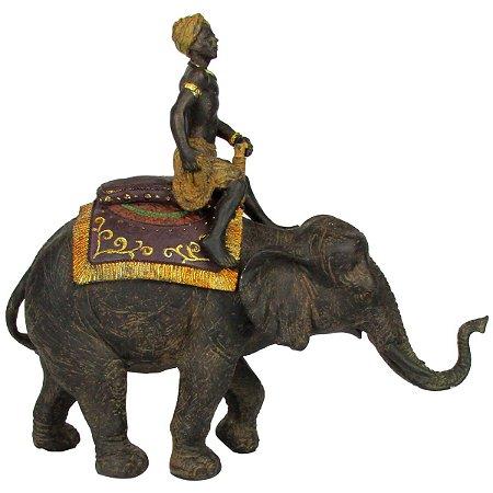 Escultura Elefante Africano Para Decoração