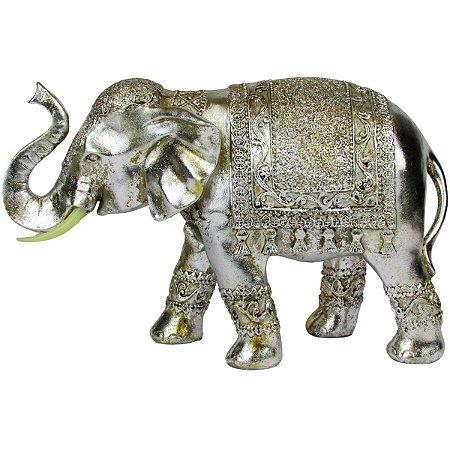 Escultura Elefante Decoração Indiano Prata