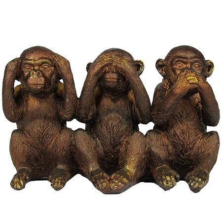 Macacos Sábios Decorativo Em Resina