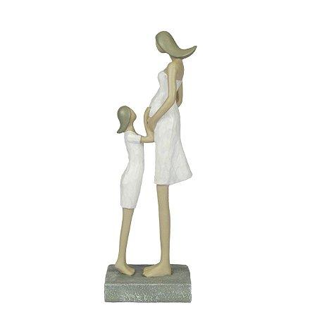 Escultura Decorativa Mãe Gravida Em Resina