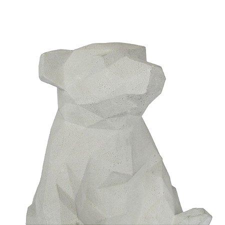 Escultura Urso Geométrico Cimento