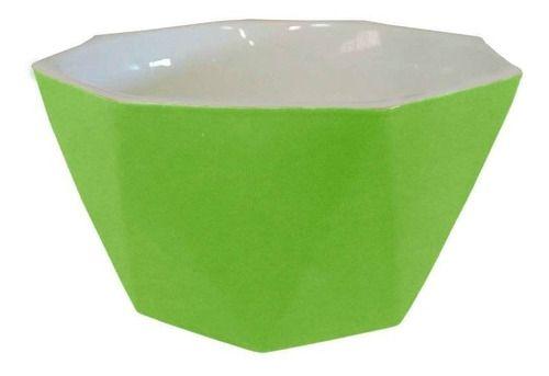 Tigela Bowl Diamond Verde Média Em Porcelana