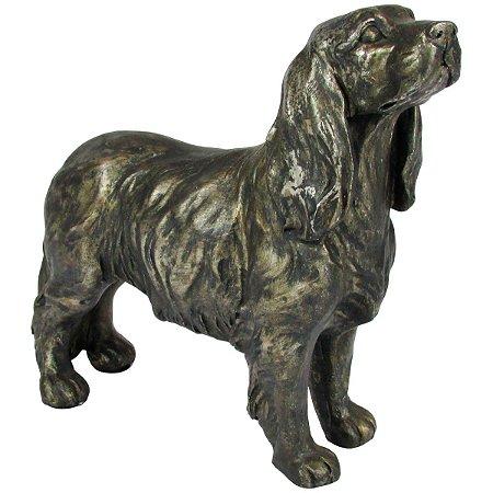 Escultura Cachorro Decorativo Em Resina