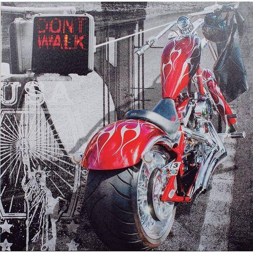 Quadro Decorativo Tela Impressa Moto Vermelha Dont Walk