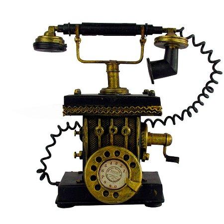Telefone Metal Artesanal Vintage Decoração Retro