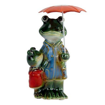 Escultura Sapo Umbrella