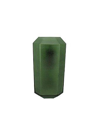 Vaso Médio Verde Relevo Quadrado