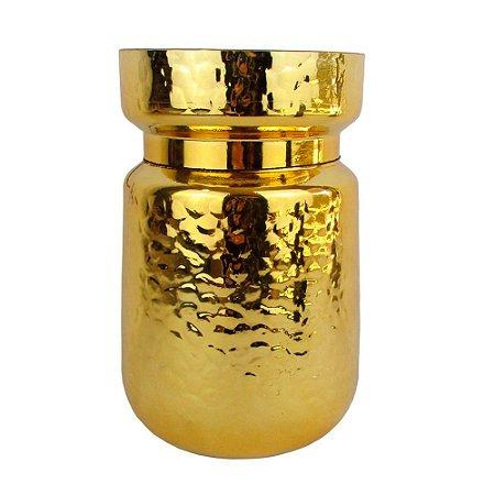Vaso Redondo Dourado (Decorama)