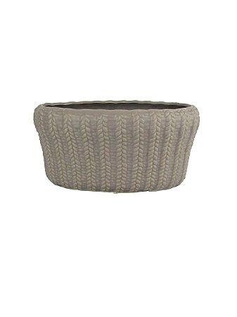 Vaso Em Cerâmica Detalhes Trançados