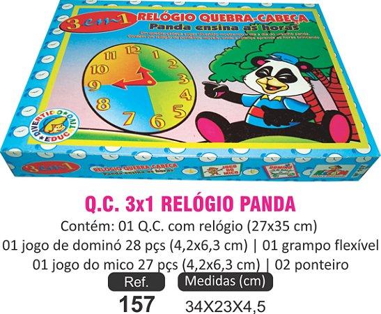 BRINQUEDO QUEBRA-CABEÇA PANDA 3X1