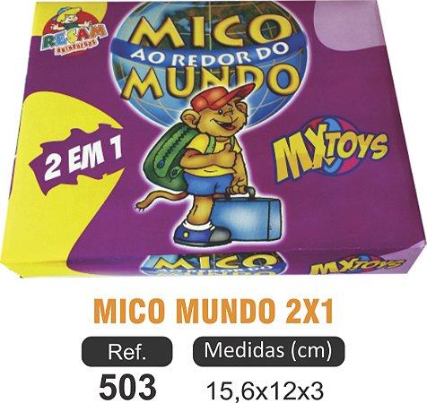 BRINQUEDO JOGO DO MICO MUNDO 2X1