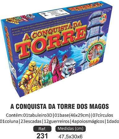 BRINQUEDO A CONQUISTA DA TORRE DOS MAGOS EM 3D