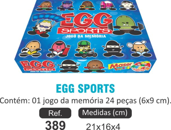 BRINQUEDO EGG SPORTS MEMÓRIA