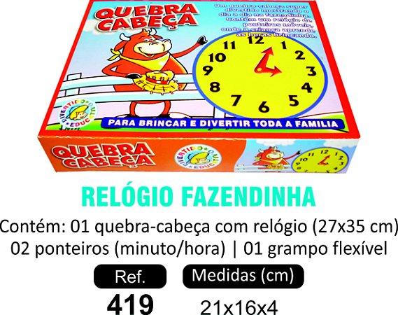 BRINQUEDO QC RELÓGIO FAZENDINHA
