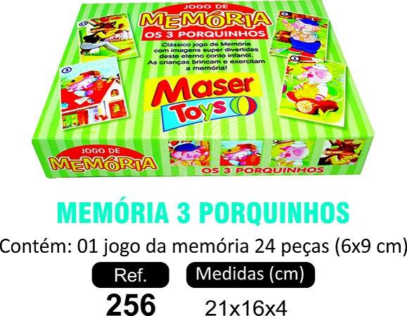 BRINQUEDO MEMÓRIA 3 PORQUINHOS