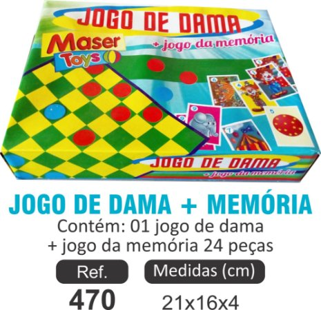 BRINQUEDO JOGO DE DAMAS + MEMÓRIA