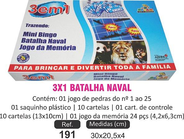 BRINQUEDO 3X1 BATALHA NAVAL