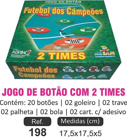 BRINQUEDO JOGO DE BOTÃO COM 2 TIMES