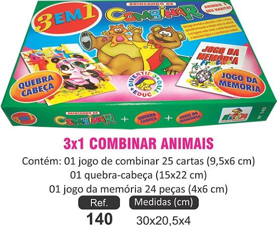 BRINQUEDO 3XA COMBINAR ANIMAIS