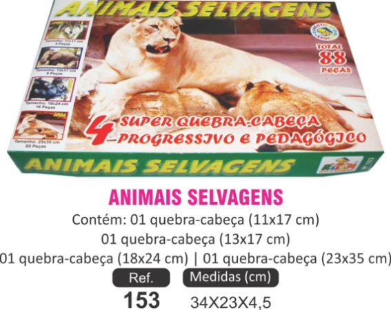 BRINQUEDO QC ANIMAIS SELVAGENS 4X1