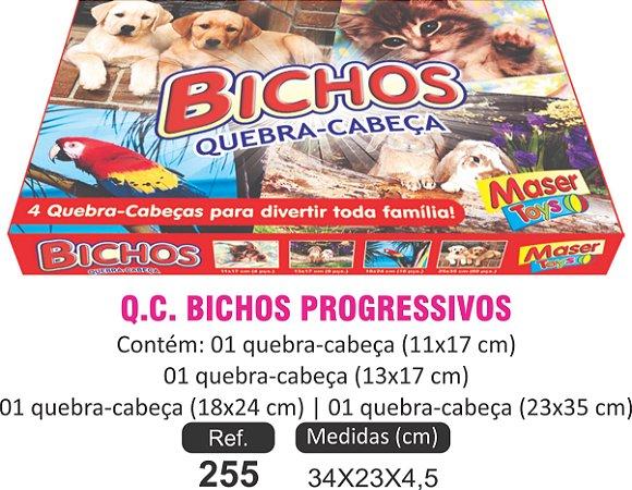 BRINQUEDO QC BICHOS PROGRESSIVO 4X1