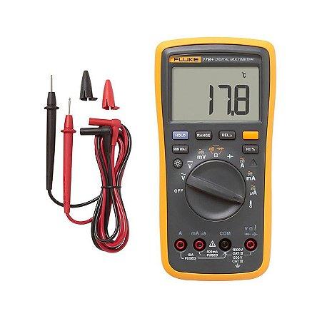 Fluke 17B+ Multímetro Digital (com escala para medição de temperatura e frequência)