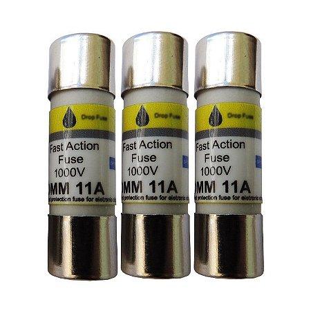 Fusível DMM 11A (COM 3 UNIDADES) – Fusível de ação rápida – 11A / 1000V
