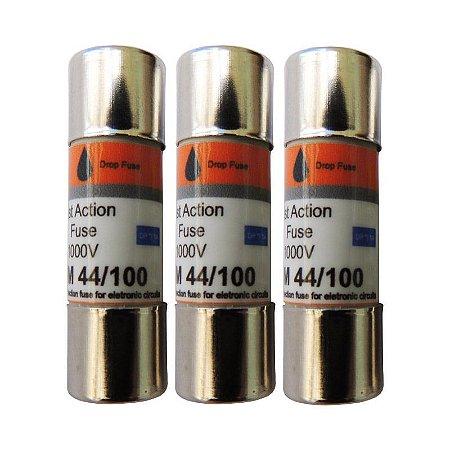 Fusível DMM 44/100 (com 3 unidades) - Fusível de ação rápida - 440mA / 1000V