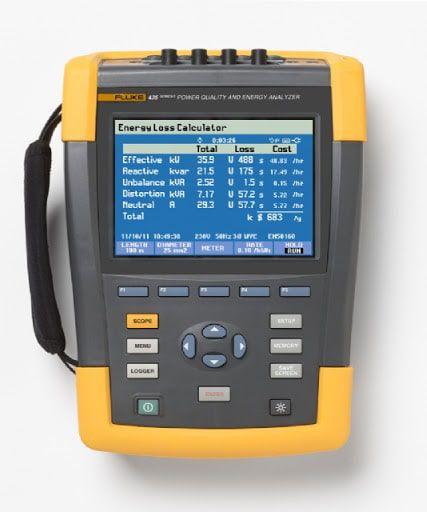 Fluke 435 II – Analisador de qualidade de energia trifásico