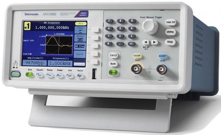 Tektronix AFG1062- Gerador de Função Arbitrária de 60MHz, 02 canais, 5 anos de garantia