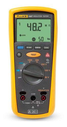 Fluke 1507 – Testador de resistência de isolamento de 50V, 100V, 250V, 500V e 1000V