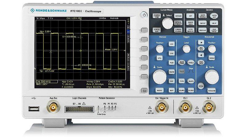 Rohde & Schwarz RTC1002-50 – Osciloscópio Digital de 50MHZ, 2 canais, com ampla gama de funções