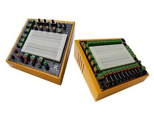 Pacote Educacional III – Módulo Didático de Eletrônica Digital Básico MPLD10C + Módulo Didático de Eletrônica Analógica Básico com gerador de funções MPLA1201GF