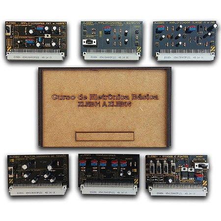 Cartões Opcionais para estudo de Eletrônica Básica – ZL-EB01 a ZL-EB06