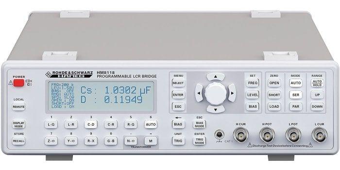 Rohde & Schwarz HM8118- Medidor de LCR de Precisão – 20 Hz a 200 kHz