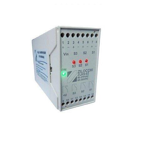 Relé Supervisor de Disjuntor MT / AT para 3 bobinas 48V – Modelo ZLKS-48