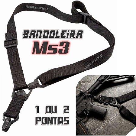 Bandoleira Tática Ms3 - Fuzil - Metralhadora - Carabina.