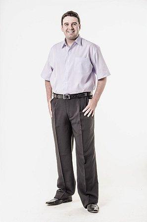 Calça social e camisa manga curta