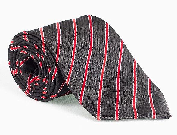Gravata preta e vermelha