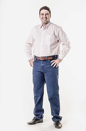 Calça jeans e camisa social