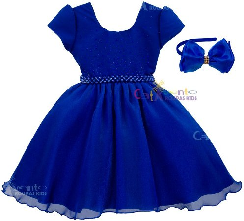 Vestido azul royal de formatura